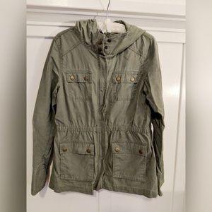 Gap utility zip up hoodie jacket size M